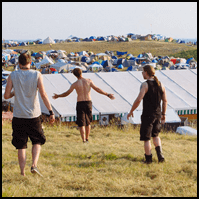 Campground atmosphere at Dong Open Air Festival 2014