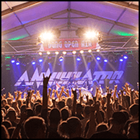 Crowd at Annihilator live at dem Dong Open Air Festival 2014