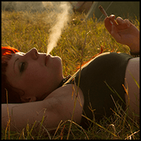 Relaxing in the evening sun at Dong Open Air Festival 2014