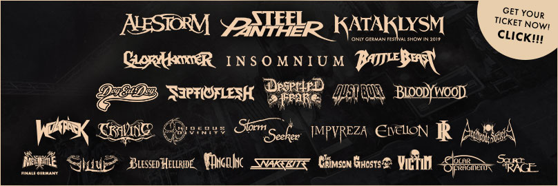 Steel Panther, Alestorm, AngelInc, Battle Beast, Deserted Fear, Dog Eat Dog, Blessed Hellride, Bloodywood, Craving, Deathcode Society, Dust Bolt, Elvellon, Gloryhammer, Hideous Divinity, Impureza, Insomnium, Kataklysm, Rising Insane, Septicflesh, Silius, Snakebite, Solar Fragment, Source of Rage, Storm Seeker, The Crimson Ghosts, Victim, Wulfpäck