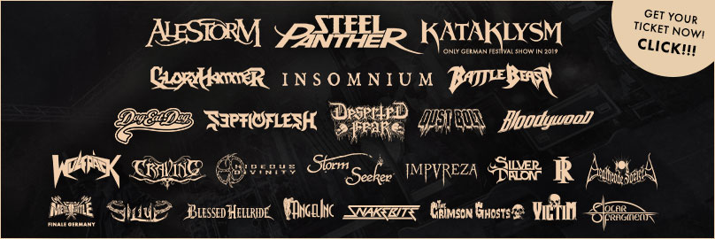 Steel Panther, Alestorm, AngelInc, Battle Beast, Deserted Fear, Dog Eat Dog, Blessed Hellride, Bloodywood, Craving, Deathcode Society, Dust Bolt, Gloryhammer, Hideous Divinity, Impureza, Insomnium, Kataklysm, Rising Insane, Septicflesh, Silius, Silver Talon, Snakebite, Solar Fragment, Storm Seeker, The Crimson Ghosts, Victim, Wulfpäck
